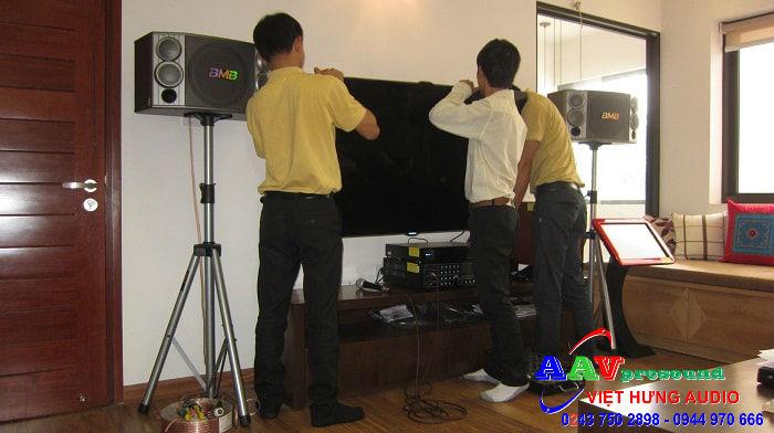 lắp đặt hệ thống âm thanh karaoke gia đình