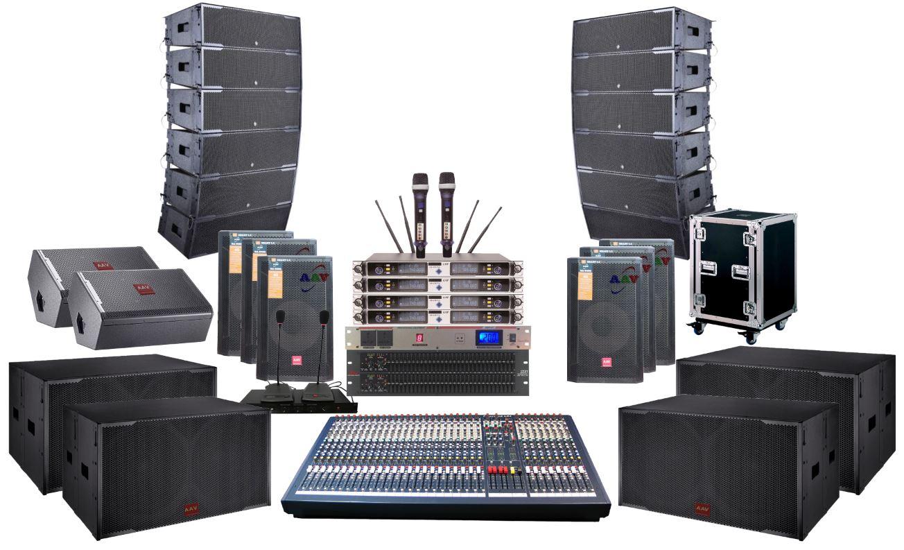 hệ thống âm thanh âm sáng cao cấp dùng loa line array